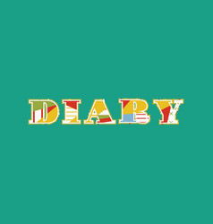 Diary concept word art vector