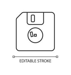Diskette linear icon vector