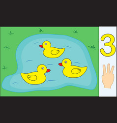 Ducks number 3 three learning counting vector
