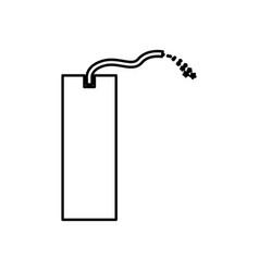 Dynamite black color icon vector