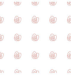 Easter egg icon pattern seamless white background vector