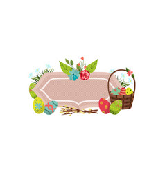 Easter posters banner template set vector