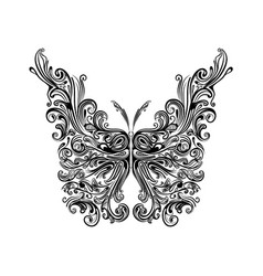 Entangle butterfly with big wing vector
