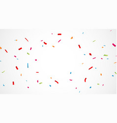 Falling colorful confetti background vector