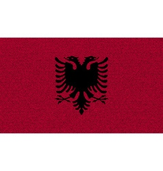 Flags Albania on denim texture vector