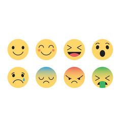 Flat design modern emoticons vector