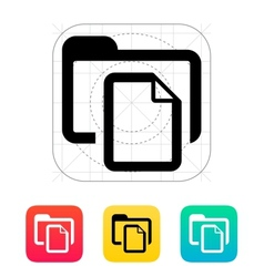 Folder with files icon vector image