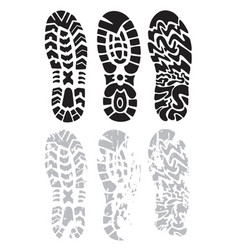 footprint shoes vector image