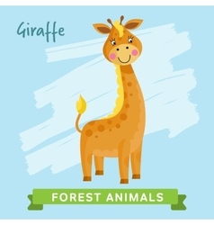 Giraffe forest animals vector image