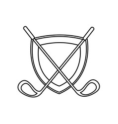 golf club isolated icon vector image
