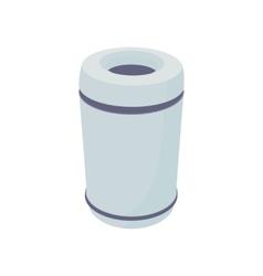 Grey outdoor bin icon cartoon style vector