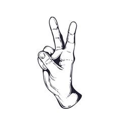 hand vintage logo vector image
