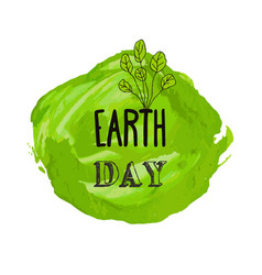 Happy earth day watercolor ink texture background vector