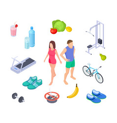 healthy lifestyle good habits sport activity vector image