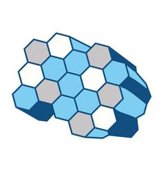 Honeycomb cartoon vector