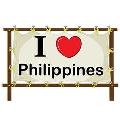 I love philippines vector
