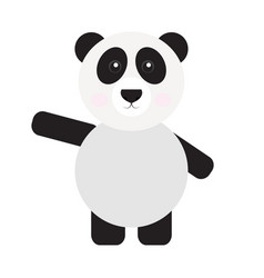 Isolated cute panda vector