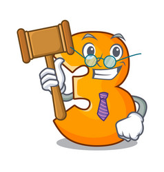 Judge number three isolated on the mascot vector