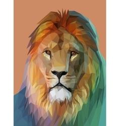 Lion portrait Low poly design eps10 vector
