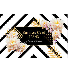 luxury brand card with realistic flowers vector image
