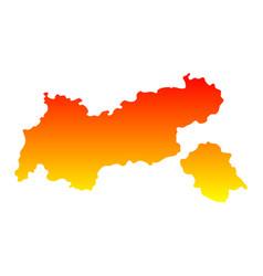 map of tyrol vector image