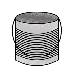 Metal mason jar isolated icon vector
