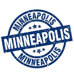 Minneapolis blue round grunge stamp vector