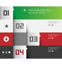 Modern business step options banner vector