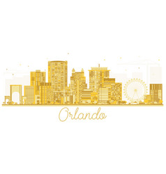Orlando usa city skyline golden silhouette vector