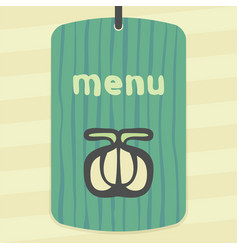 outline garlic icon modern infographic logo vector image