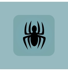 Pale blue spider icon vector