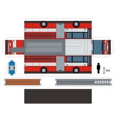 Paper model of a fire truck vector