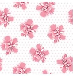 pink camelia flowers seamless pattern tree petals vector image