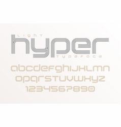 plain display font art design alphabet letters vector image