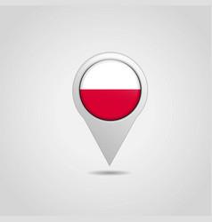 Poland flag map pin vector