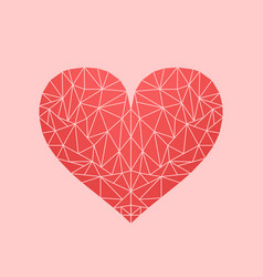 polygonal low-poly mosaic heart vector image