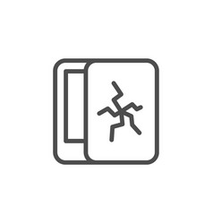 Protection screen for device icon vector