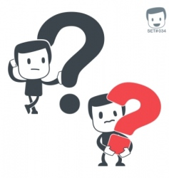 question icon man set vector image