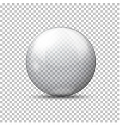 Realistic transparent ball plaid background vector