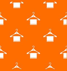 Scarf on coat hanger pattern seamless vector
