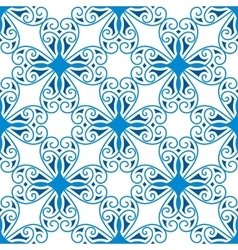 Seamless pattern of blue geometric symbol vector