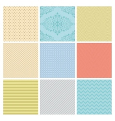 Seamless subtle geometric background set vector