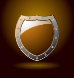 secure shield blank vector image