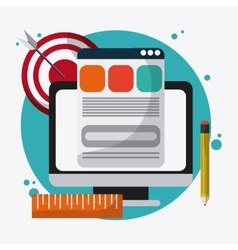 SEO icons technology related vector
