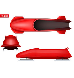 Set of bobsleigh for two athletes vector