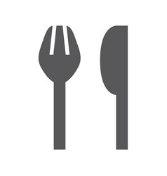 simple fork and knife icon vector image