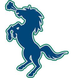 Stallion logo mascot vector