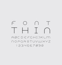 Thin font alphabet vector