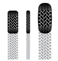 Tire track set 7 vector image