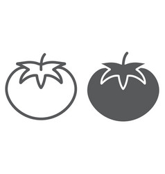 tomato line and glyph icon vegetable vector image